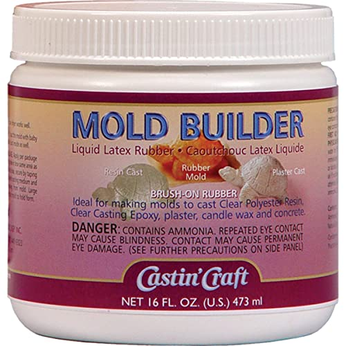 Environmental Technology Mold Builder Liquid Latex Rubber, Off White,16 oz / 473 ml