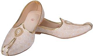 Men's Sherwani Shoe's Pakistani Shoes Padhani Shoes Lahori Maroon Nagra Juttis & Mojaris