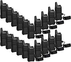 Retevis RT22 Walkie Talkies Adults Long Range Channel Lock Emergency Alarm 16CH UHF CTCSS DCS VOX Handsfree Business Two-Way Radios Mini (20 Pack)