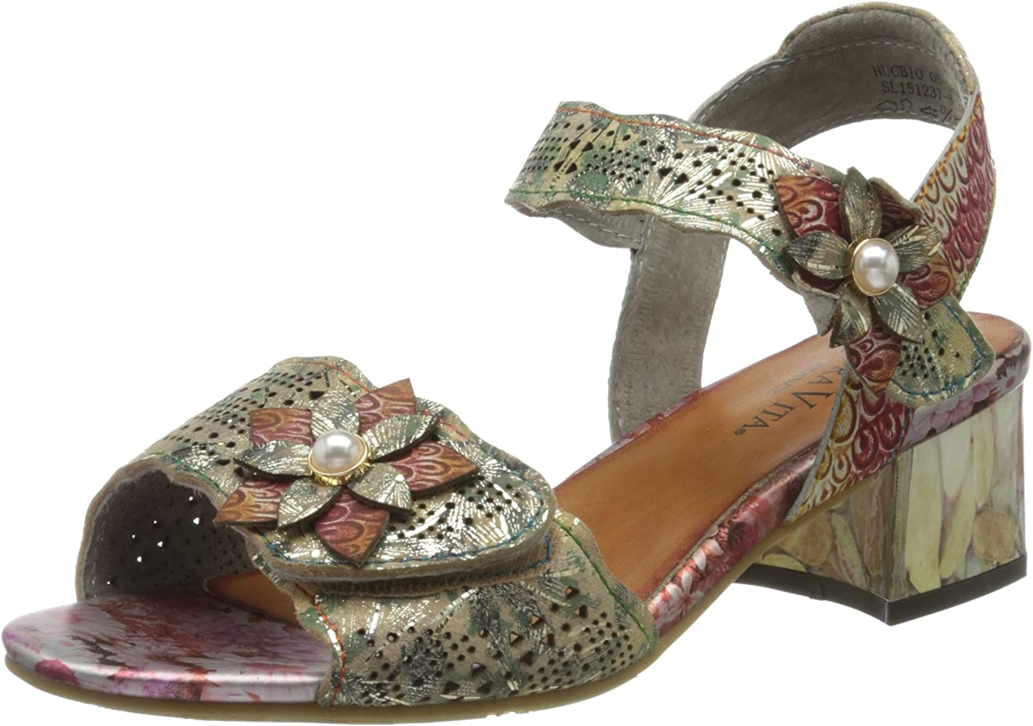 Laura Vita Women's Hucbio OFFicial mail order Sandals 05 Indefinitely Toe Open