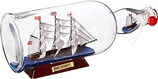 Hampton Nautical HMS Bounty Model Ship in a Glass Bottle, 11