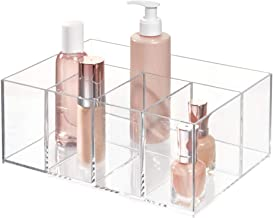 InterDesign Cabinet to Hold Makeup Beauty Products Hair Accessories – 5 Compartments, Clear Clarity Cosmetic & Vanity Orga...
