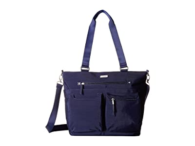 Baggallini New Classic Any Day Tote with RFID Phone Wristlet (Navy) Tote Handbags