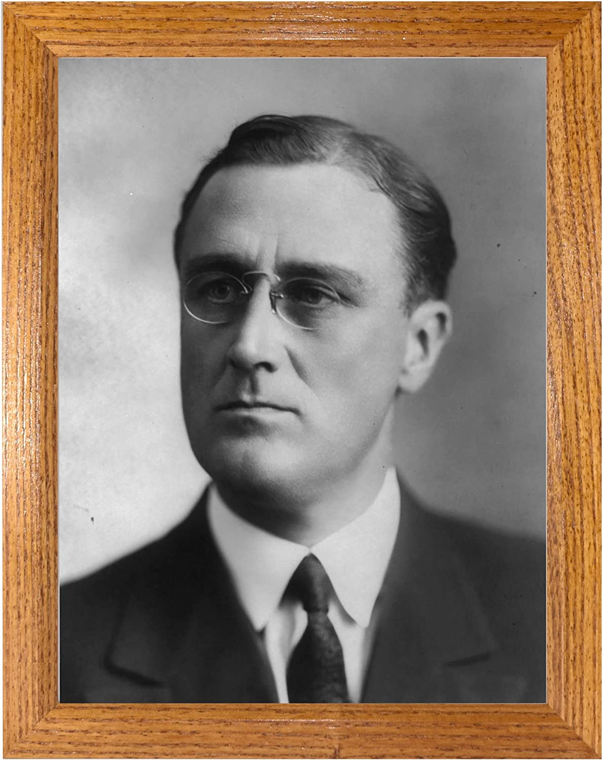 Franklin Delano Roosevelt Photograph in a Hi Honey Directly managed store Frame Brown Limited price -