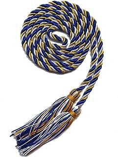 Graduation Honor Cord Three-Color Braided Grad Days (Gold White Royal Blue)