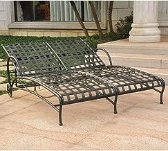 international caravan santa fe wrought iron chaise lounge