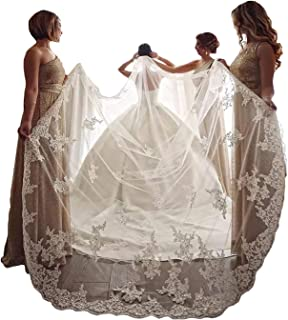 EllieHouse Women's Embroidery Lace Wedding Bridal Veil With Comb S60