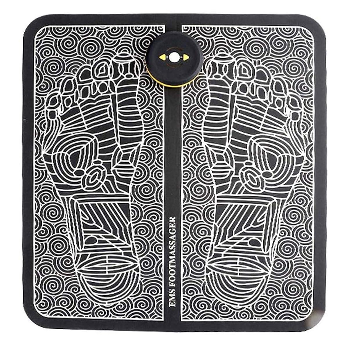 アラブジャベスウィルソンファセットEMSフットマッサージ器、USB充電式折りたたみ携帯用電気マッサージマット、電子筋Stimulatior足マッサージ促進血液循環筋肉の痛みを軽減