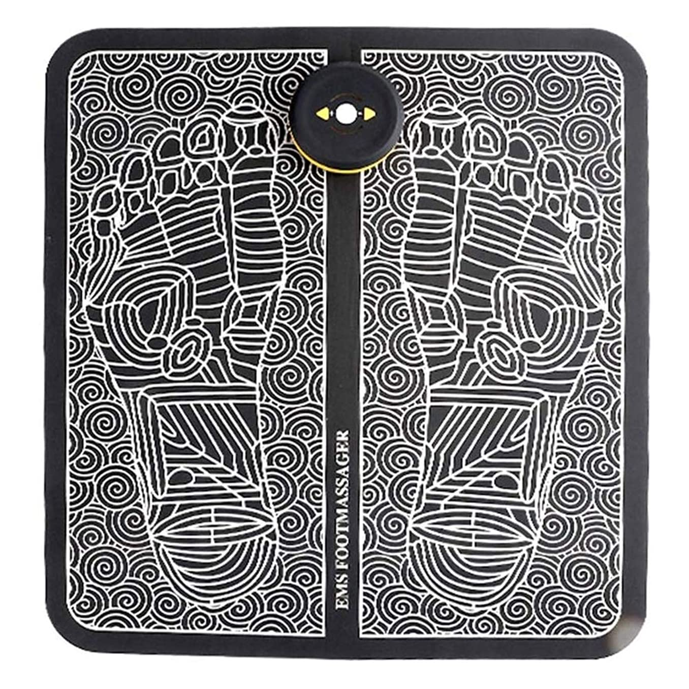 晴れ人気ビジョンEMSフットマッサージ器、USB充電式折りたたみ携帯用電気マッサージマット、電子筋Stimulatior足マッサージ促進血液循環筋肉の痛みを軽減