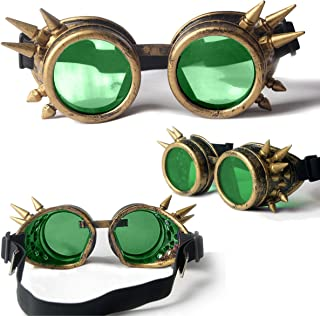 Steampunk Goggles Welding Gothic Cosplay Vintage Rustic Goggles