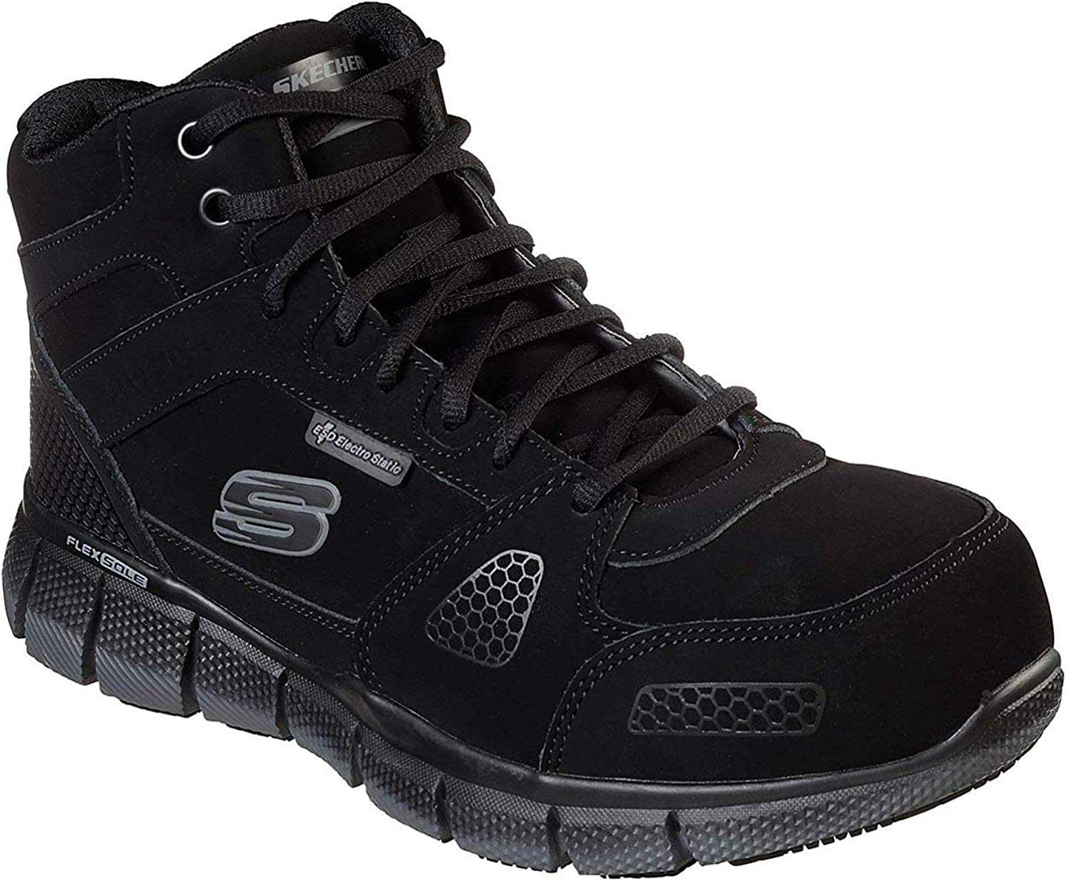 Skechers Work Telfin Penticton ESD Alloy Safety Toe Mens High Top Sneakers