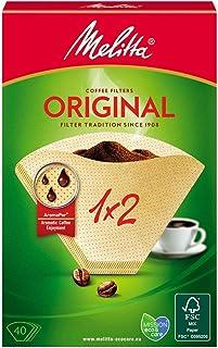 Melitta 502001 Filtros de Café Desechables, Papel, Natural