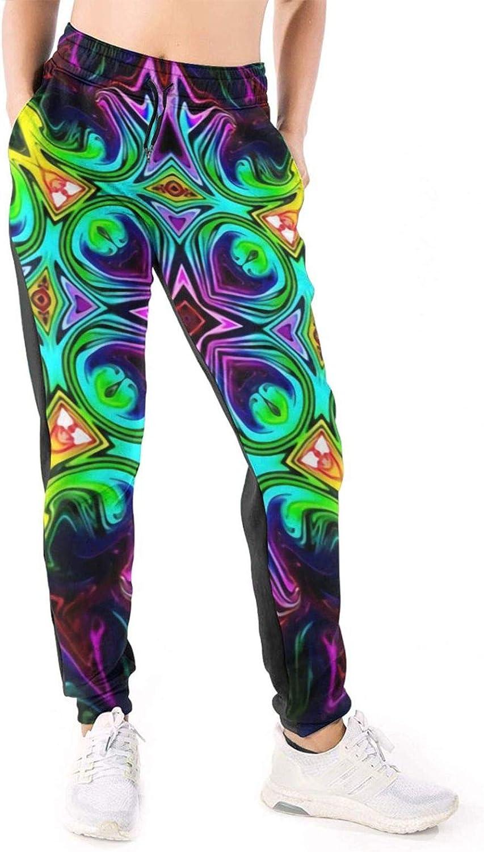 Women Joggers Pants Tie Dye Classic Kaleidoscope Mandala Athletic Sweatpants with Pockets Casual Trousers Baggy