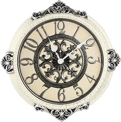 JCRNJSB® ヨーロッパスタイルレトロサイレントウォールクロックリビングルームベッドルームオフィスクリエイティブウォッチシンプルな時計 壁掛けサスペンション クロックウォールクロック クォーツ時計 (色 : #2)