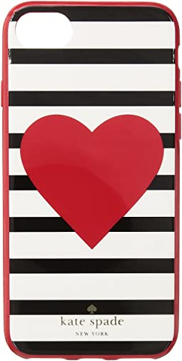 Kate Spade New York - Heart Stripe Phone Case for iPhone® 7/iPhone® 8