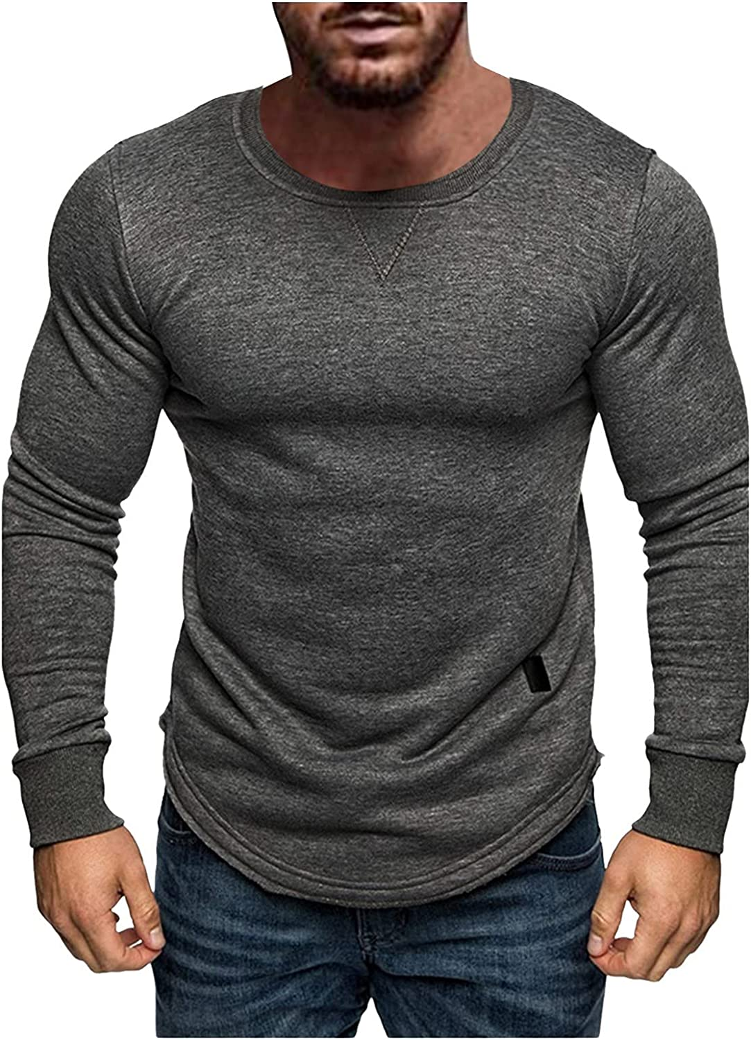 Maryia Men's Long Sleeve Shirts UPF 50+ Moisture Wicking UV Sun Protection Outdoor Casual Dry Fit Active Tops
