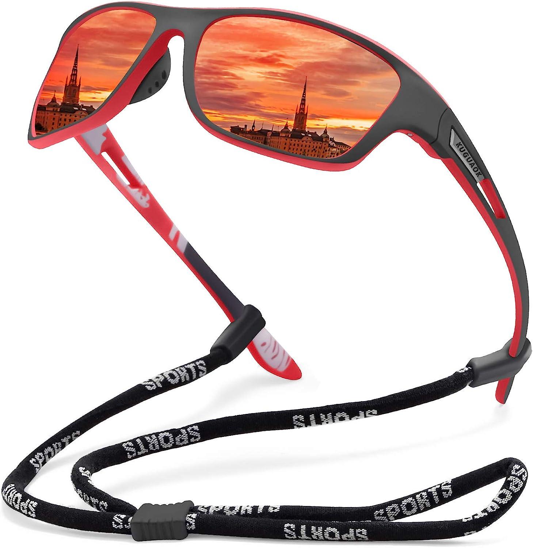 KUGUAOK Polarized Sports Sunglasses for Men Driving Cycling Fishing Sun Glasses 100% UV Protection Goggles