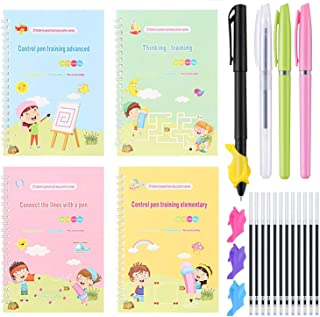 Magic Practice Copybook, Line Patterns Pen Control for Kid, Improving Imagination and Logical Thinking Ability, Reusable H...