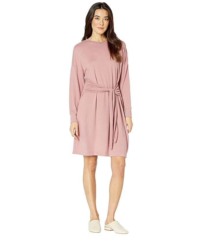 American Rose Opal Sweater Knit Dress with Front Tie (Mauve) Women