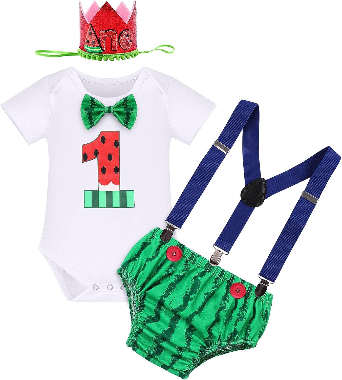 Baby Boy Wild One 1st Birthday Outfit Cake Smash Lion Bowtie Romper + Shorts + Suspenders + Crown Headband Photo Shoot