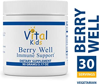 Vital Nutrients - Berry Well Immune Support for Kids - Supports and Maintains Healthy Immune System Function - Vegetarian - 90 Grams of Powder
