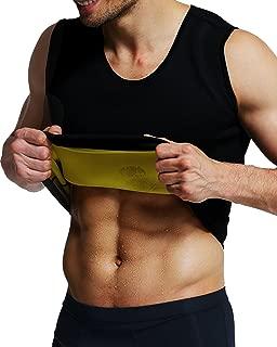 IFLOVE Sweat Vest for Men Weight Loss Neoprene Sauna Suit Body Shaper Tank Hot Top Tummy Fat Burner Slimming Shapewear Black No Zip
