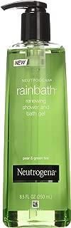 Neutrogena Rainbath Renewing Shower and Bath Gel, Pear & Green Tea, 8.5 Oz Pump Bottles (Pack of 3)
