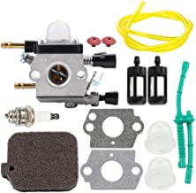 Leopop C1Q-S68G BG55 Carburetor for Stihl BG45 BG46 BG65 BG85 SH55 SH85 Blower Parts Zama Carb 4229 120 0606 with Air Filter Fuel Line Filter Primer Bulb Kit