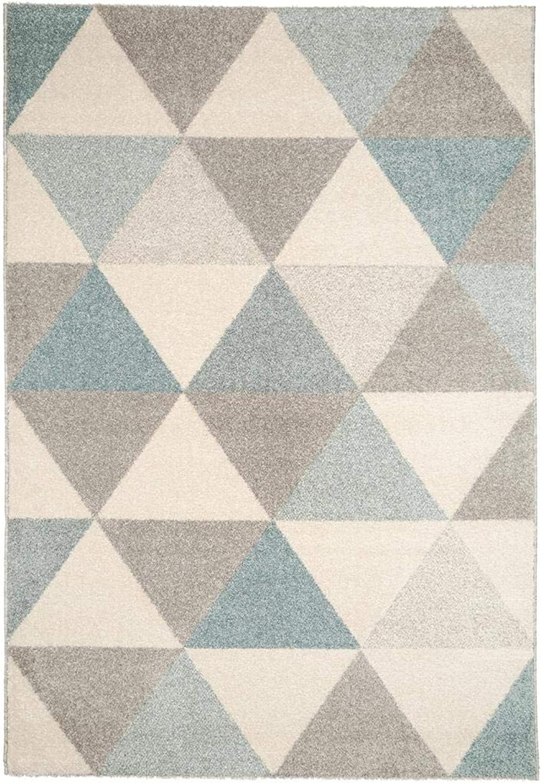 Benuta Teppich Pastel Geomet Türkis 140x200 cm  Moderner Teppich für Wohn- und Schlafzimmer
