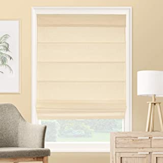CHICOLOGY Roman Shades Rustic 100% Cotton Cascade Window Treatment, 33