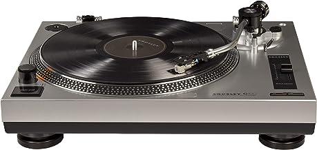 Crosley C100 Vinyl Turntable, Belt-Driven w/ Built in Pre-Amp & Adjustable Tone Arm - Silver