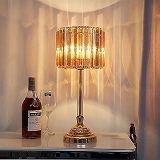 Lampe de Table Lampe de Table en Cristal de Luxe européenne Chaude Lampe de Chevet Princesse créative 20 * 46cm (Couleur:C...