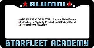 Star Trek Alumni Starfleet Academy Custom License Plate Frame (Blue Lettering, ABS Plastic Frame)