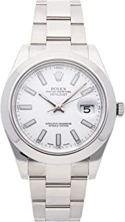 Rolex Datejust II Mechanical (Automatic) White Dial Mens Watch 116300 (Certified Pre-Owned)