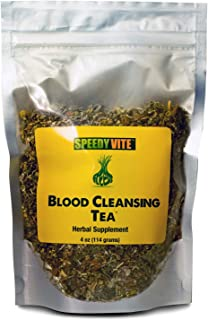 SpeedyVite Blood Cleansing Tea Organic –Cleanses & supports natural removal of excess waste chemicals from the blood stream Chaparral Echinacea Chamomile.. Herbal Supplement