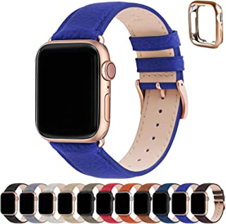 Fullmosa Compatible Apple watch strap 38mm 40mm 41mm 42mm 44mm 45mm Leather iWatch Band/Strap Compatible Apple Watch SE & ...
