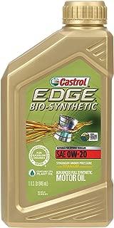 Castrol 06585 EDGE Bio-Synthetic 0W-20 Advanced Full Synthetic Motor Oil, 1 quart, 6 Pack