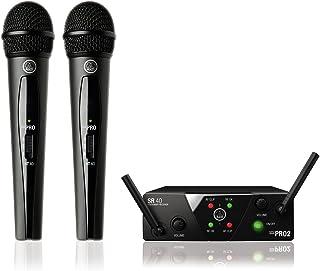 AKG WMS40 Mini Dual Vocal Wireless System - Dual Microphone, ISM/CH70