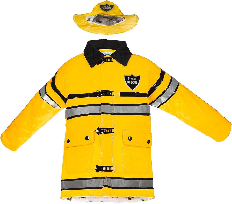 Splashy Firefighter Rain Jacket and Hat