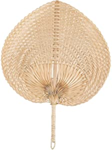 Natural Bamboo Raffia Fans (set of 12) Luau and Tropical Party Supplies