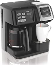 Hamilton Beach FlexBrew Coffee Maker, Single Serve & Full Pot, Compatible with K-Cup Pods or Grounds Black 49976