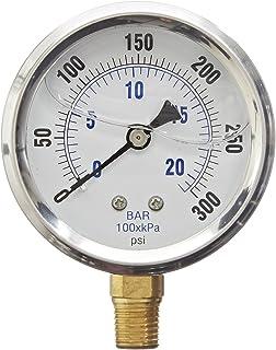 Sponsored Ad - PIC Gauge PRO-201L-254H-GL Glycerin Filled Industrial Bottom Mount Pressure Gauge with Stainless Steel Case...