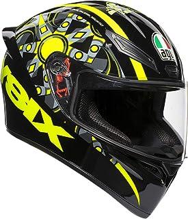 AGV Unisex-Adult Full Face K-1 Flavum 46 Motorcycle Helmet Black/Yellow X-Large