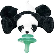 Nookums Paci-Plushies Buddies - Panda Pacifier Holder - Adapts to Name Brand Pacifiers, Suitable for All Ages, Plush Toy Includes Detachable Pacifier