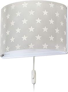 comprar comparacion Dalber Lámpara Infantil Aplique Pared Estrellas Stars Gris, 60 W
