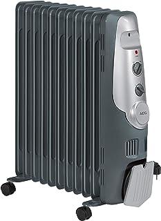 AEG RA 5522 - Radiador de aceite, 2200 W, 11 elementos, termostato, 3 niveles de potencia, regulador de potencia para un bajo consumo