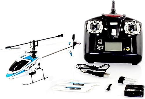 4CH 2.4GHz Mini Radio Single Propeller RC Helicopter Gyro V911 RTF Weiß&Blau