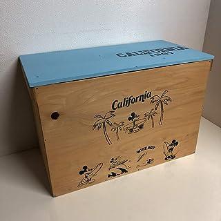 ウッドボックス オリジナルBOX オーク×ライトブルー 収納箱 お買い得!