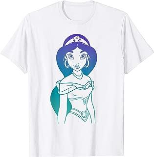 Aladdin Princess Jasmine Gradient Sketch T-Shirt