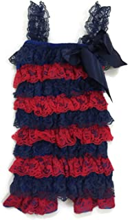 Rush Dance Football Colors Baby Toddler Girls Lace Ruffle Petti Romper